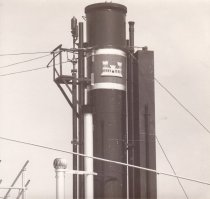 Image of Smokestack of W.T. Preston with Civil Corps of Engineer symbol 1980