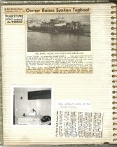 Image of P. 16 of Scrapbook:  Snagboat History No. 2