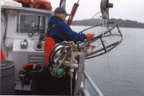 Image of Karen Thompson commercial crabbing
