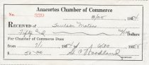 Image of Chamber of Commerce membership receipt
