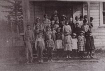 Image of One Room Guemes Schoolhouse Class Photo