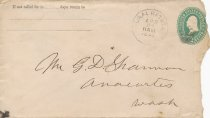 Image of Mailing envelope to George Shannon - 1895