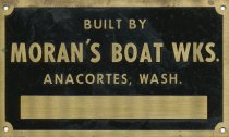Image of Moran's Boat Works nameplate