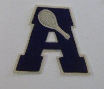 Image of School tennis letter belonging to Betty Lowman