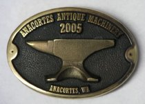 Image of Belt Buckle given to participants 2005 Anacortes Antique Machinery Show