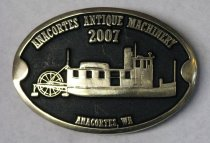 Image of Belt Buckle given to participants 2007 Anacortes Antique Machinery Show