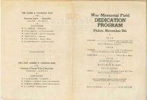 Image of 1946 War Memorial Field Dedication program - insert