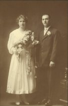 Image of D.I.063 - Mr. and Mrs. Charles Voitus - wedding day
