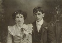 Image of Hilda Voitus Olson & husband - wedding day