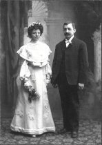 Image of D.I.073 - Mr. and Mrs. Charles Voitus - wedding day