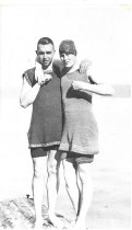 Image of D.I.113 - Don Straw and unknown female - c.1916