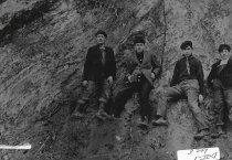 Image of Fred Hawkey, Harry Lefvendahl, Donald Straw & Felix Hawley c.1911