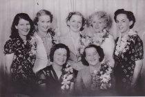 Image of Bridesmaids at mass wedding 1938