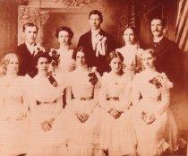 Image of 8th grade graduation class - 1901