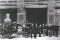 Image of D.III.037 - Fire Hall 5th and Q. Avenue, 1900's.