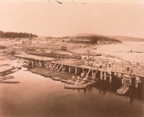 Image of Sloan shipyard on Guemes Island, 1917