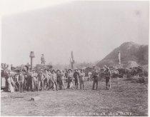 Image of Threshing crew at John Ball farm