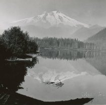 Image of Mt. Baker reflected in Baker Lake