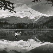 Image of Mt. Baker reflected in Baker Lake