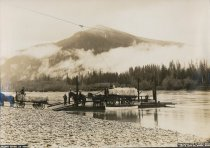Image of Ferry on Skagit Rve foot of Coal Mountain