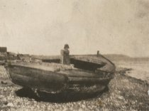 Image of D.XX.003.032 - Unknown girl in dinghy on shore