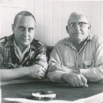 Image of D.XX.003.050 - Ellsworth Trafton and unknown friend in galley