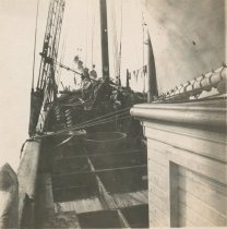 Image of Deck of unknown sailing vessel