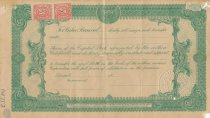 Image of Back of Stock Certificate