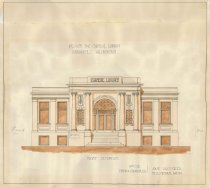 Image of Design for Carnegie Library, 1909