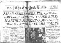 Image of Japan Surrenders, End of War