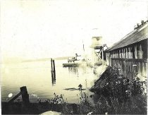Image of boat approaching cannery
