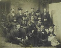 Image of Burdon family and friends