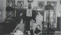Image of Family with stuffed deer head