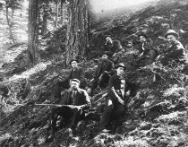 Image of hunters on Mt. Erie