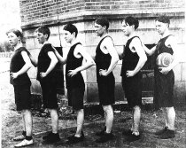 Image of AHS basketball team, 1910