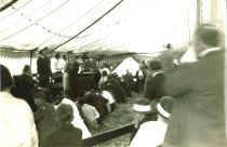 Image of interior of revival tent