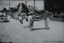 Image of Children's Parade - American flags