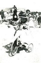 Image of Children's Parade - cowgirl on tricycle