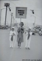 Image of Kiddies' Parade 1949 - Jackie Krebs (bearer)