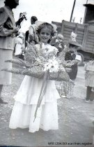 Image of Kiddies' Parade  - girl with basket of flowers