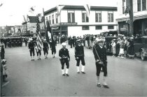 Image of Marineer Parade c. 1938 - Military color guard