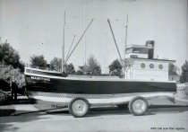 "Image of Marineer Parade c. 1938 - ""Maritime"" boat float"