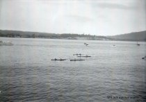 Image of Two-man canoe race in Guemes Channel