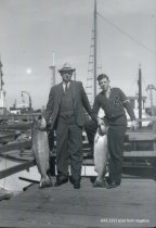 Image of Edson and Gilman Abbott with salmon