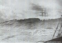 Image of schooner in heavy seas