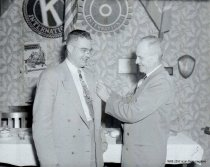 Image of Ben Driftmier, Jr., and father at Rotary Club