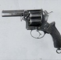 Image of side view of a revolver