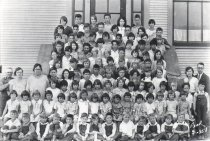 Image of student body of Fidalgo School (?)