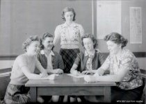 Image of Girls Club officers, 1940