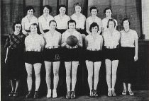 Image of WF 3343 - 1933 girls' basketball team